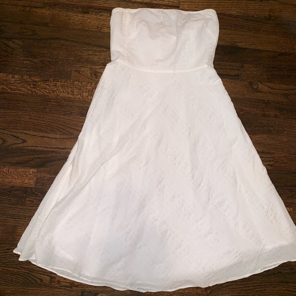 J. Crew Dresses & Skirts - J.Crew Seersucker, Strapless Dress, size 6